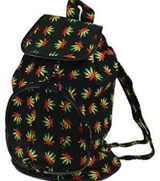 Backpack leaf design