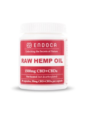 Endoca Raw Hemp Oil Capsules 1500Mg - 15%