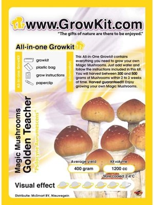 Golden Teacher All In One Growkit