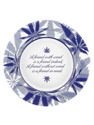Metal Ashtray – Delft Blue