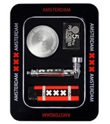 Amsterdam Metal Pipe Gift Set w/ Magno Mix Grinder